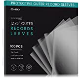 Vinyl Record Sleeves (100 Pack) Outer Sheet Protectors for Vinyl Record Storage - 12.75' x 12.75' Clear Vinyl Sleeves for Single & Gatefold LP Album Covers - 3mil Thick Vinyl Records Outer Sleeves