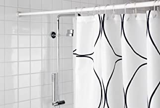 "Aurora Shower Curtain Rod, Expandable, Extendable 42""- 78"", Adjustable, Spring, Tension Pole Heavy Duty Rod,"