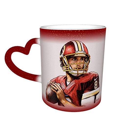 Kirk Cousins Cool Color Changing Magic Mug Funny Unique Heat Sensitive Coffee Cup Ceramic Milk Tea Cup Personalized Gifts
