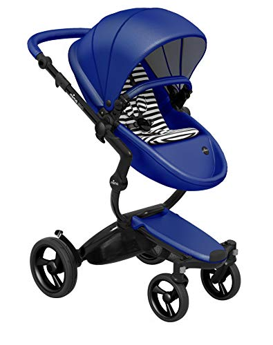 Cheap Mima Xari Stroller (Black Chassis, Royal Blue Seat, Black & White Stater Pack)