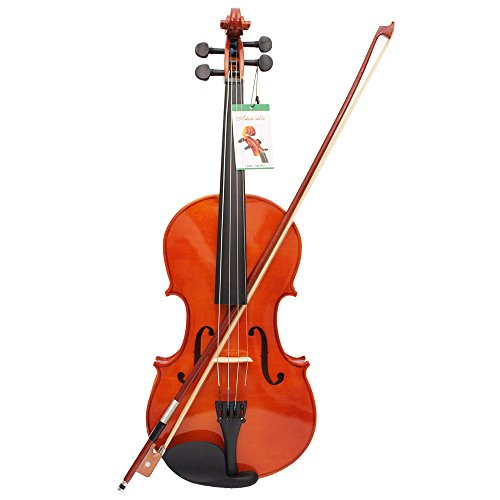 Muslady 4/4 Viola, massives Ahorn, 40,6 cm, mit Koffer, Bogenbrücken-Saiten