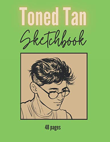 """Toned Tan Sketchbook: Toned Paper Drawing Pad - 48 pages - 8,5""""x11"""""""