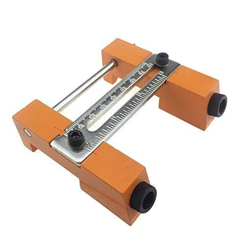 QPLKL Zimmerarbeiten Aluminiumlegierung Tischler Schlags Locator Einstellbare Oblique Loch Jig mit 9.5mm Puncher Holzbearbeitungswerkzeug (Color : No Accessories)