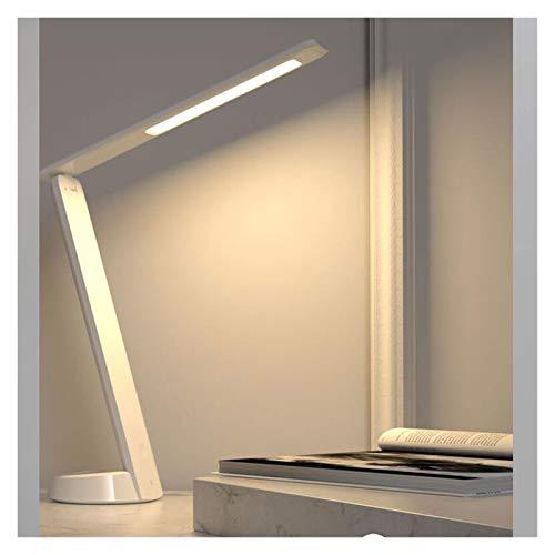 Lámpara De Escritorio LED con Cargador Inalámbrico Luz Ajustable De La Luz  Lámpara De Mesa De Oficina para El Trabajo De Lectura De Estudio (Color : White)