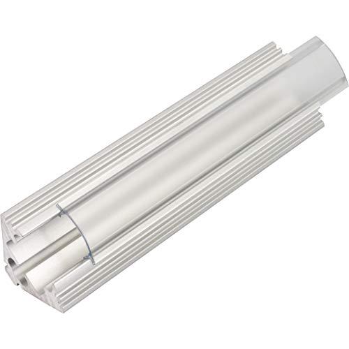 KIT de 6 x 1 mètre P3 Profilé en aluminium ARGENT pour les bandes LED avec couvercles transparents, bouchons et clips de fixation