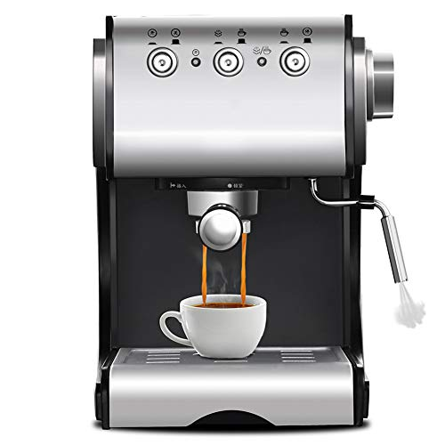 ZHAN Kaffeemaschinen, 1350W / 20Bar / 1.5L Kaffeemaschine Elektrohalbautomatische Kaffeemaschine -Hochdruckextraktion/Doppeltemperaturregelung