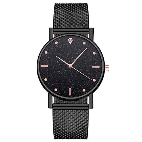xy Relojes de Lujo de Marca Reloj Digital Dial de Acero Inoxidable Simple Casual Bracele Watch Wristwatch Reloj Mujer Relogio Feminino # W (Color : B)