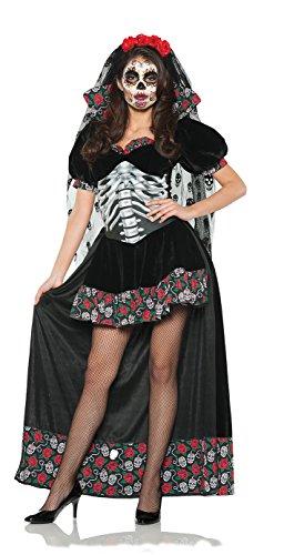 UNDERWRAPS Women's Day of The Dead Costume - Senorita Black