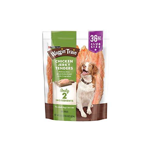 Purina Waggin tren Chicken Jerky Dog Treats, 36-ounce