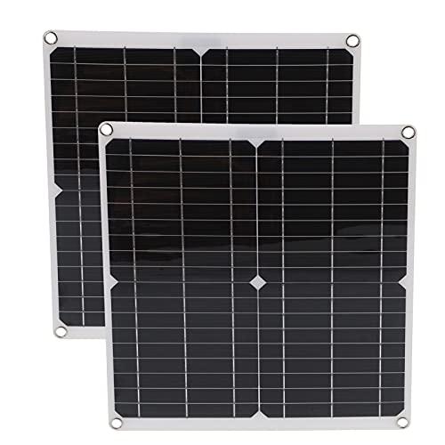 Panel solar, tablero de carga solar monocristalino para automóviles, barcos, aviones, satélites para escalada, senderismo, acampada, viajes