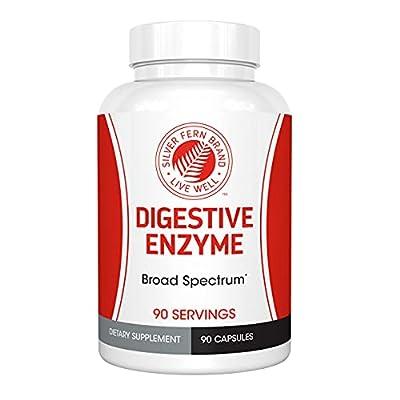 Silver Fern Brand Ultimate Digestive Enzyme Supplement - 1 Bottle - High Potency, Multi Enzyme - Digestive Comfort & Food Tolerance - Hemicullulase, Peptidase, Maltase, More