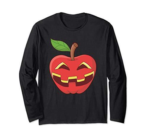 Apfel Halloween Kostüm Jackolantern Apfel-Laterne Geschenk Langarmshirt
