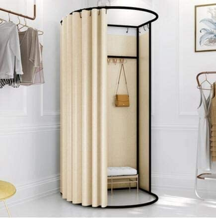 for The Mall Office Portable Dressing Room Foldable Locker Room Curtain Kit GDMING Clothing Store Fitting Room Floor-Standing Temporary Changing Room 9 Colors 2 Sizes