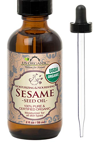 US Organic Sesame Seed Oil, USDA Certified Organic, Untoasted, Unrefined Virgin, 100%...
