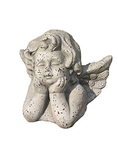 IUYJVR Estatua de ángel de jardín, Linda Estatua de Busto de ángel con ángeles alados, Paloma Reza por la Paz, decoración del jardín