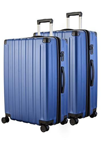Happy Trolley Dubai DXB - Maleta rígida con 4 ruedas, TSA (S, M y XL), azul oscuro (Azul) - HT2x28-1701-DB