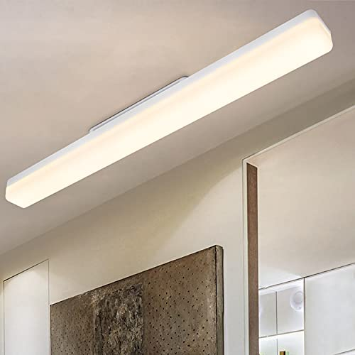 CBJKTX LED Deckenleuchte deckenlampe Tageslicht weiß 24W - 4000K 2160LM für küche Wohnzimmer schlafzimmer balkon Flur Garage Keller IP20 wandleuchte tageslichtlampe (60cm)
