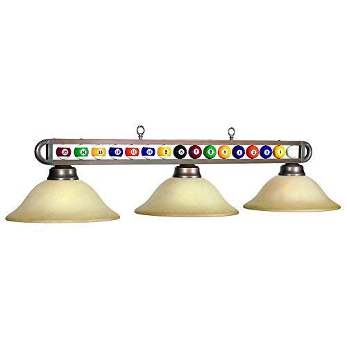 RAM Gameroom 3 Lights Billiard Light w Billiard Ball in Bronze