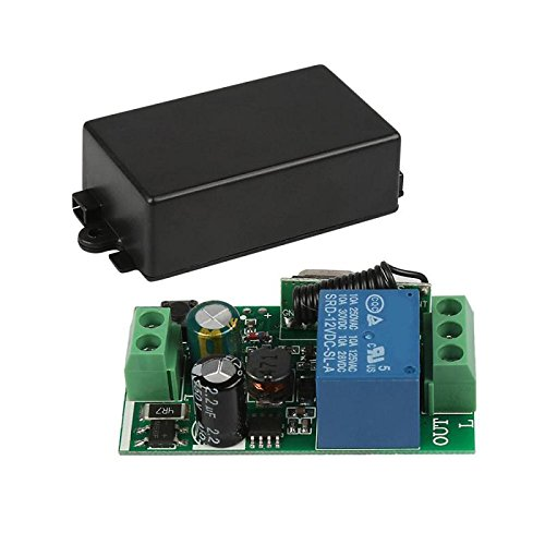 Gfhrisyty Universal 433 MHz AC 220 V 1 canal Control remoto interruptor relé receptor módulo para 433 MHz RF transmisor garaje