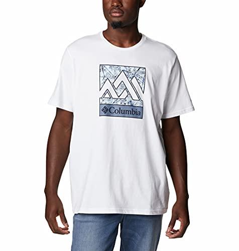 Columbia T-Shirt für Herren mit Aufdruck, M Rapid Ridge, Weiß (White Triple Peak), L, 1888813