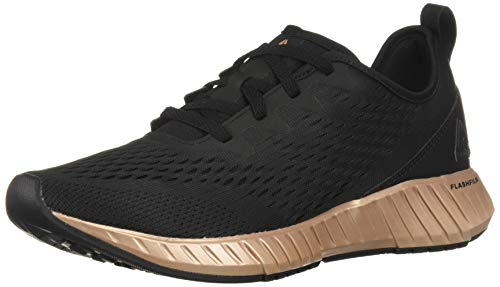 Reebok Women's FLASHFILM, Black/Rose Gold, 7.5 M US