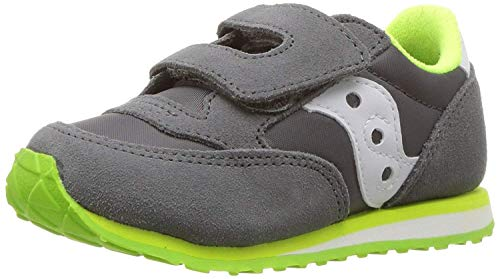 Saucony Boy's Baby Jazz Hook & Loop Sneaker, Grey/White, 6 Medium US Toddler