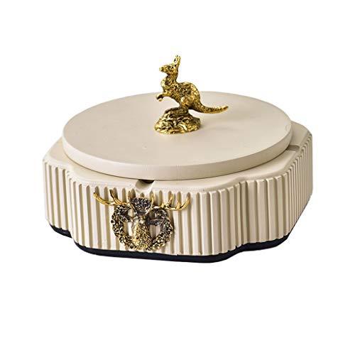 Posacenere Posacenere in ceramica con coperchio all'aperto auto da casa tavolino da caffè ufficio decorazione desktop decorazione oro manico d'oro ornamento 6,29 pollici Portacenere ( Color : H )