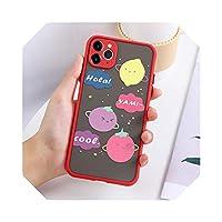For iPhone 11 ProMaxケース用電話ケースFor iPhone12 Mini 7 8 XR XS 6 6s Plus8plusカバーバンパー用の高級ハードPCソフトエッジファンダス-8O161-For iPhone XR