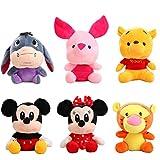 6 Unids / Set Mickey Mouse MinnieYSus Amigos Juguete De Peluche De 20 Cm, Muñeco De Peluche Suave con Dibujos Animados Bonitos para Regalo De Niños
