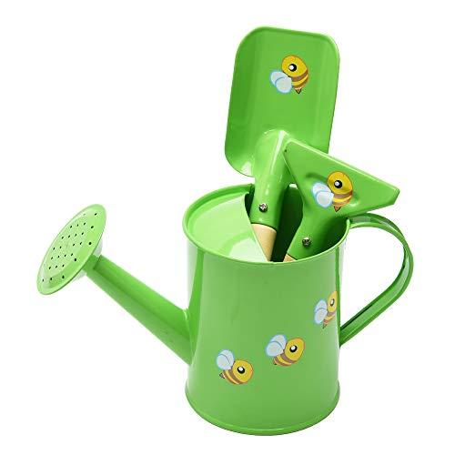 Sungmor Gartengeräte-Set Hübsches und süßes kleines Gärtner-Set Paket beinhaltet 3PC Gießkanne & Kelle & Rechen Gartenhandwerkzeuge Perfekt für Garten Hinterhof oder Strand