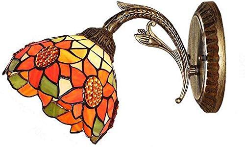 8 Pulgadas, Tiffany Estilo de Vidrio/Diseño de iluminación Girasol Luces de Noche en la lámpara de Pared del Dormitorio de la lámpara de Pared Espejo de Pared / E27, Max40W