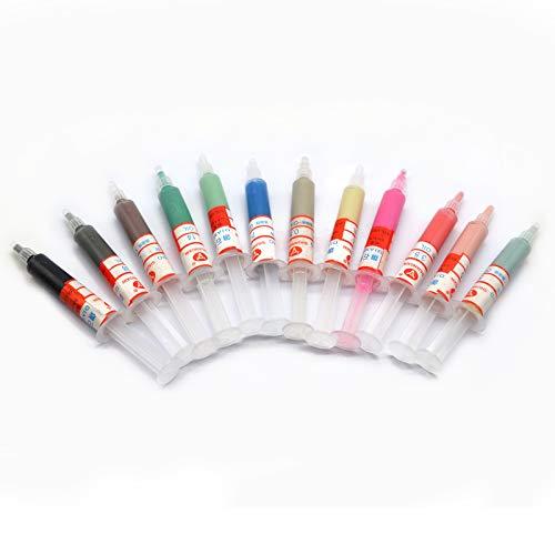 Oudtinx 12pcs 5 Gram Diamond Lapping Paste Polishing Compound for Fine to Final Polishing, Grits 1000# 10000# 0.5-40 Micron