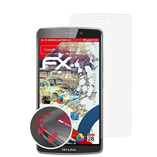 atFolix Schutzfolie kompatibel mit TP-Link Neffos C5 Max Folie, entspiegelnde & Flexible FX Bildschirmschutzfolie (3X)