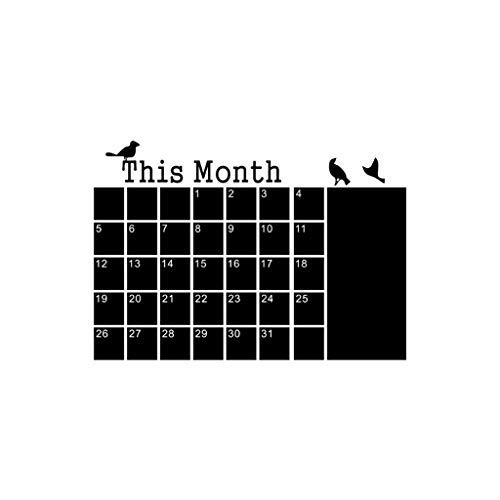 Find Bargain Shotbow Monthly Planner Calendar Blackboard Chalk Board Removable Wall Sticker Decal fo...