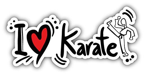 novland I Love Karate Autoaufkleber Autoaufkleber, 15,2 x 7,6 cm