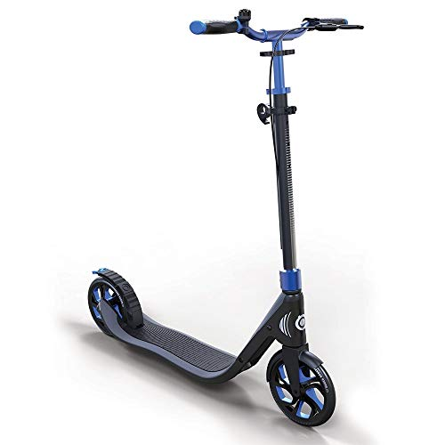 Globber One NL 205 Deluxe Scooter-Titanium and Blue Patinete, Unisex, Azul Cobalto