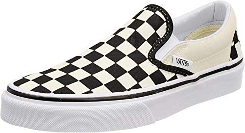 Vans Classic Slip-on (10 B(M) US Women / 8.5 D(M) US Men, Black-White (Checker))