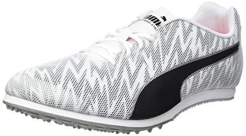 PUMA Unisex Evospeed Star 7 Leichtathletik-Schuh, White Black Silver, 40 EU