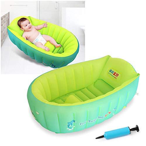 Aufblasbare Baby Badewanne, Anti-Rutsch Pool Faltbar Reise-Badewanne Kinder Baby-aufblasbare Badewanne Für Unterwegs Dick Baby Schwimmbecken Badewannensitz