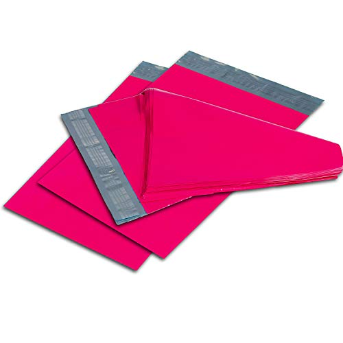 Oknuu Poly Mailers � 6 x 9-inch Hot Pink Poly Envelopes � Pack of 25 Mailing Bags for Shipping � Durable and Non-Tear Mailers � Plastic Shipping Bags � Self-Adhesive 2.5 Mil Envelopes