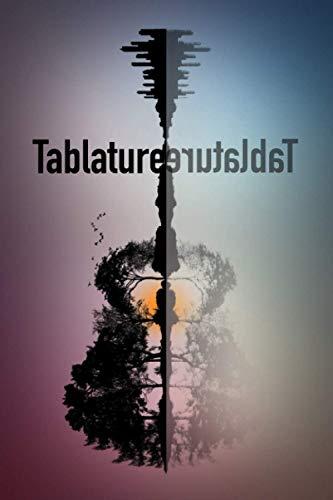Tablature: Carnet de tablatures. Partition de tablature vierge