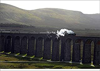Media Storehouse A1 Poster of The Tornado Steam Locomotive Crosses Ribblehead Viaduct in Northern England (19598768)