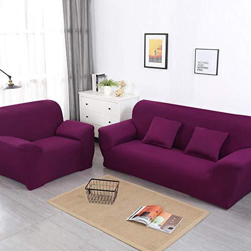 CC.Stars 1/2/3-Sitze Sofaüberzug ,Sofa Schutzhülle, 1/2/3/4 Sitz Sofabezug, elastische einfach zu klebende Modemöbelhülle-Candy Purple_90-140cm