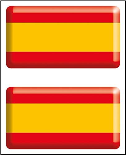 Artimagen Pegatina Bandera Rectángulo 2 uds. España Resina 48x26 mm/ud.