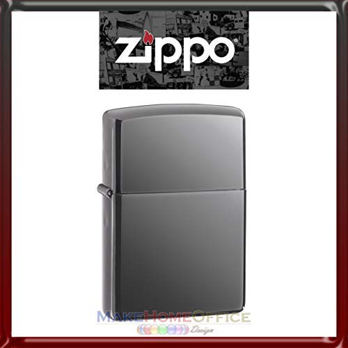 Zippo Accendino 150 PVD Black Ice Antivento Ricaricabile Lighter Briquet Feuerzeug Encendedor