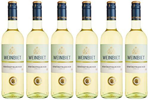 Weinbiet Manufaktur eG Gewürztraminer  Lieblich Weißwein (6 x 0.75 l)