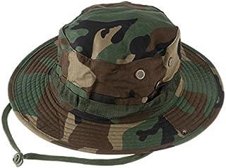 GaoMiTA Camuflaje al Aire Libre Sombrero de Camuflaje de Ocio Borde Redondo Sombrero de Benin Sombrero de ala Ancha de Camuflaje Sombrero Redondo Sombrero de Sol de Pesca