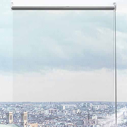 JLXJ Persianas Enrollables y Estores Impermeable el Plastico Transparente Cortinas Enrollables, 0,8 M / 1 M / 1,5 M de Ancho, Ventanas de Baño Interior Persiana de Pérgola de Patio Exterior