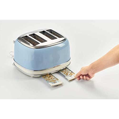 Ariete 4 Slice Vintage Toaster - Duck Egg Blue