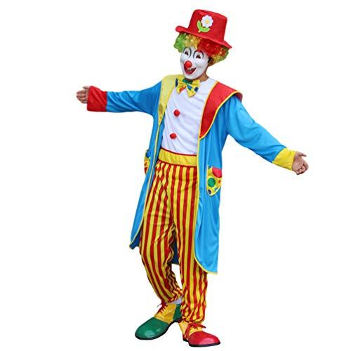 Haobing Disfraz de Payaso para Adultos Traje de Halloween Carnaval Clown Cosplay Costume (ZC-022, CN 5XL)